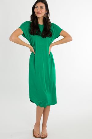 Simple Knit Midi, Green