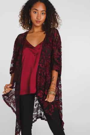 Paisley Velvet Kimono