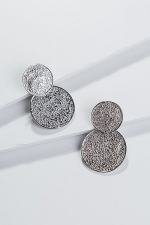 Duo Coin Ear, Silver