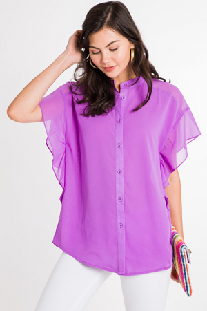 Regan Ruffle Blouse, Lilac