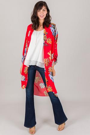 Cordoba Kimono, Red