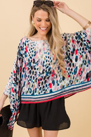 Painted Spots Poncho Top