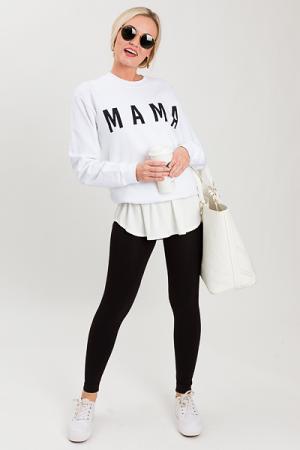 Mama Sweatshirt, White