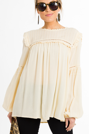 Anna Poet Blouse, Ivory