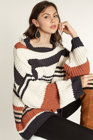 Easy Going Striped Sweater