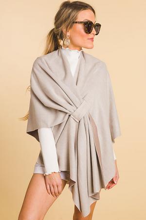 Sophisticated Soft Wrap, Khaki
