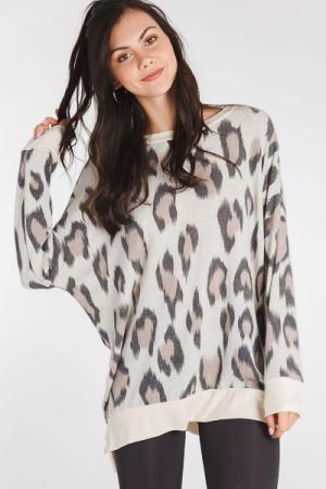 Oatmeal Leopard Tunic