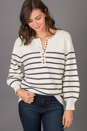 Stripes and Speckles Sweater