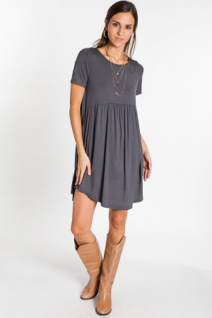 Paige Pocket Dress, Titanium
