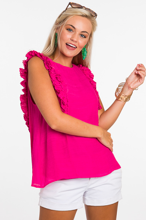 Princess Pleated Top, Pink