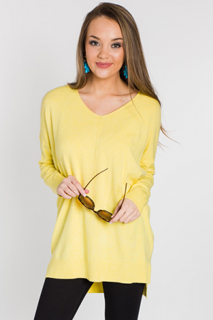 Greenlight Sweater, Neon Yellow