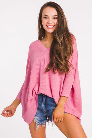 Spring Oversized Tunic, Pink