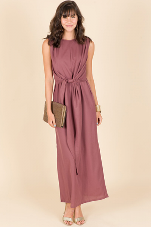Tie Front Maxi, Red Bean