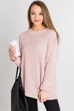 Popcorn Pullover, Pink