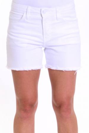 Frayed Hem Shorts, White