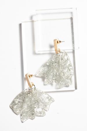 Silver Flake Earring