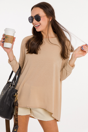 Favorite Everyday Tunic, Taupe