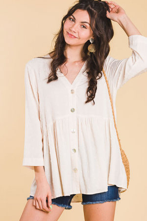All Natural Swiss Dot Tunic