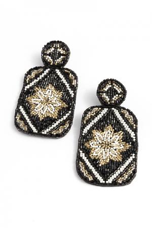 Beaded Bottles Earrings, Black