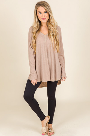 Jay Thermal Tunic, Taupe