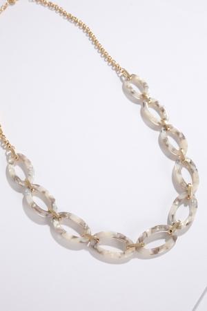 Ivory Tortoise Link Necklace