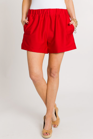 Summer Sweet Shorts, Red