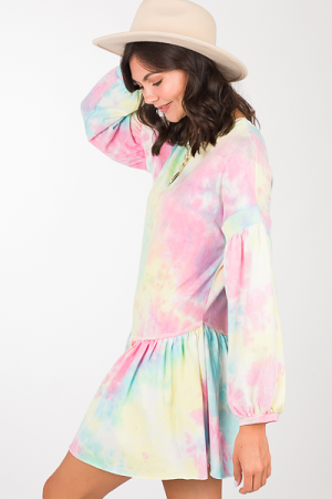 Karlie Oversized Dress, Tie Dye