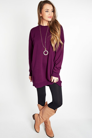 Sporty Spice Sweatshirt, Plum