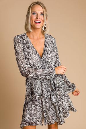 Silver Snake Dress