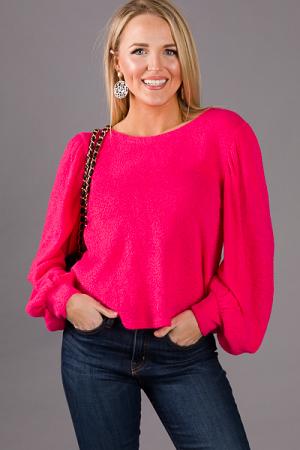 Lady Like Sweater, Hot Pink