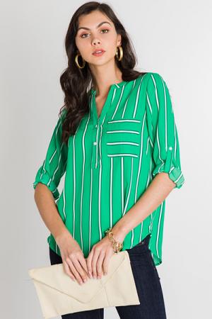 Lime Twist Stripe Top