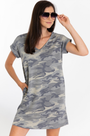 Camo Camp T-Shirt Dress