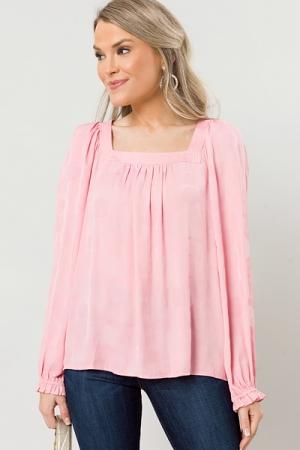 Spot Check Tonal Blouse, Pink