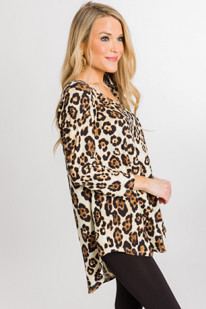 Quarter Sleeve Leopard Top