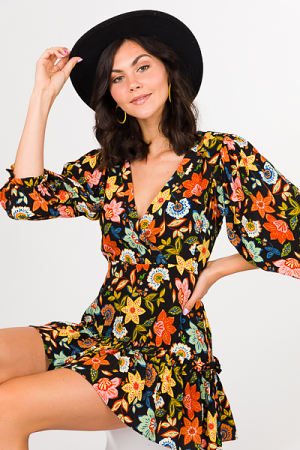 Karlie Dark Floral Dress