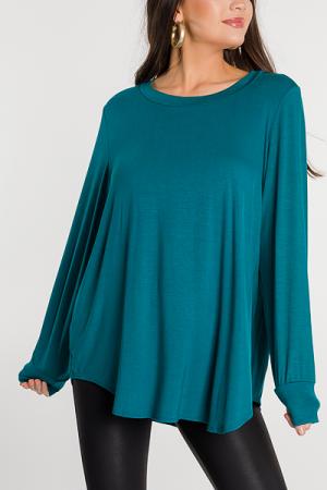 Scooped Soft Tunic, Jade