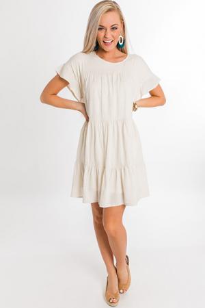 4 Tiers Dress, Oatmeal