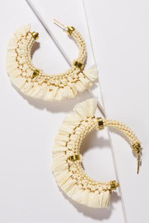 Fringe Hoops, Ivory