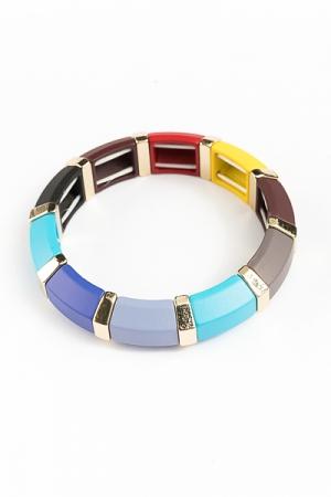 Stretch Segments Bracelet, Multi