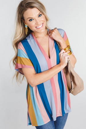 Classic Karlie Tunic, Pink Blue
