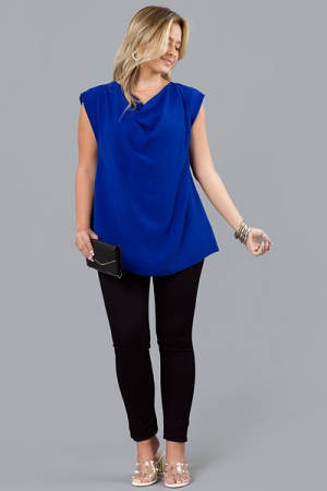 On The Cowl Blouse, Royal