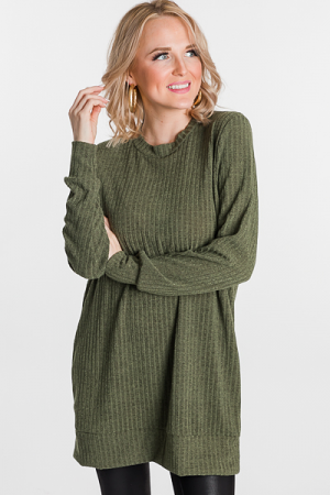 Band Together Rib Tunic, Green