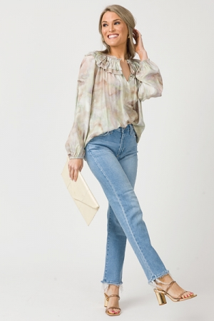 Marble Blouse, Natural