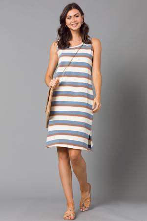 Cheyenne Stripe Knit Midi