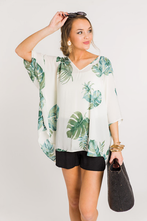 Favorite Boxy Tunic, Green Palm