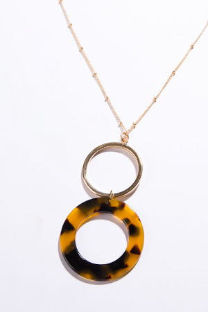 Double Tortoise Circle Necklace