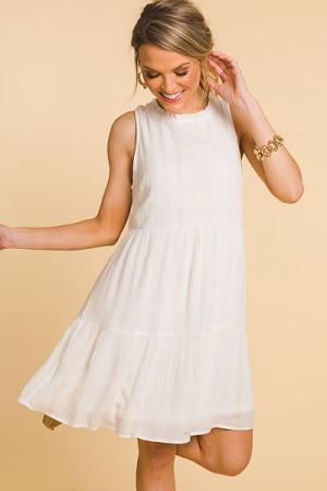 Gold Threads Dress, Ivory