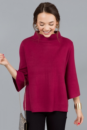 Audrey Sweater, Crushed Berry