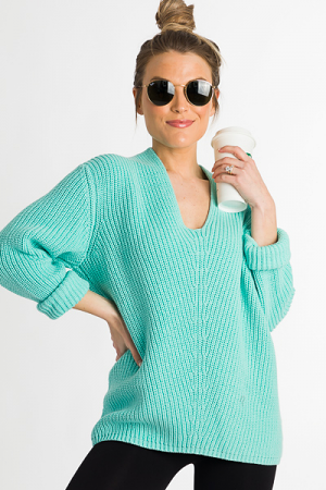 Spring Breaker Sweater, Mint