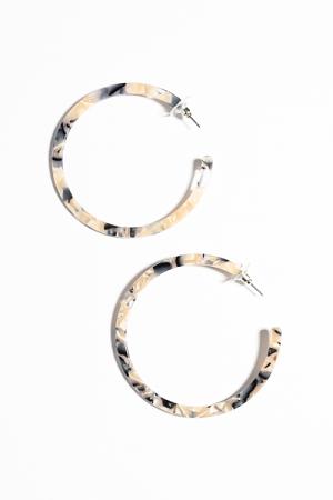 Neutral Acrylic Hoops